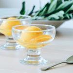 Sorbete de naranja y mango