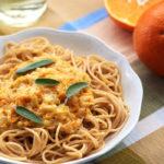 Spaguetti con salsa de naranja